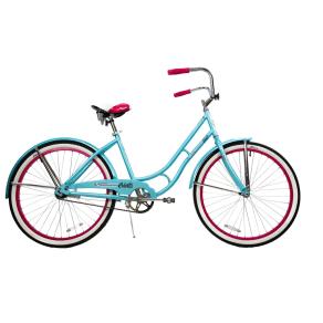 Columbia 26 Tybee Vintage Single Speed Cruiser Women's Bike - Blue/Pink