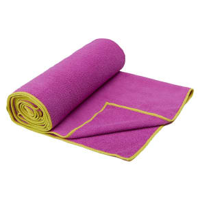 Gaiam Thirsty Citron/Radiant Orchid Yoga Mat Towel, Purple