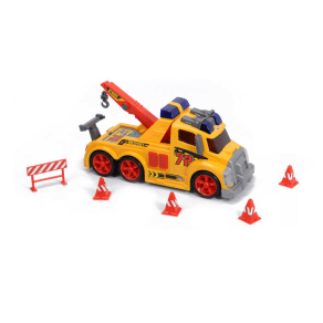 Majorette Action Series Toy Tow Truck & Accessories by Dickie Toys