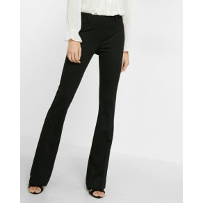 Express Womens Mid Rise Pull-On Flare Pant