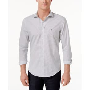 Tommy Hilfiger Men's Two-Tone Dot-Pattern Shirt