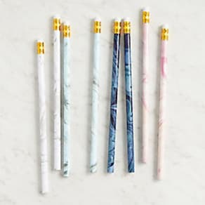 Marbled Pencil Set - Set of 8