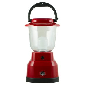 6D Led Lantern With Usb Charging - Red - Enbrighten, Brushed Nickel