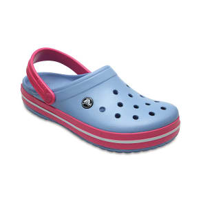 Crocs Chambray Blue/Paradise Pink Crocband(tm) Clog Shoes