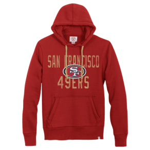 San Francisco 49ers 47 Brand Nfl Red Zone Po Hoodie - Mens - Red