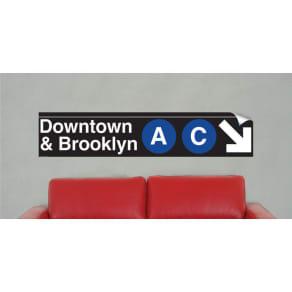 Nyc Mta Vinyl Sign - Downtown & Brooklyn a & C Lines