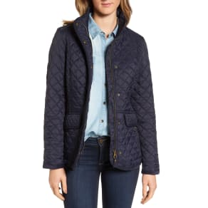 Women's Joules Warm Welcome Quilted Jacket, Size 4 - Blue