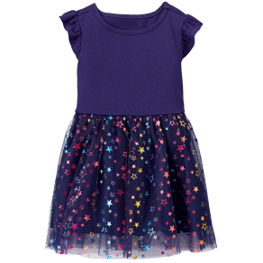 Girl's Rainbow Star Dress by Gymboree - Size 18-24m - Galaxy Star Print - Galaxy Star Print
