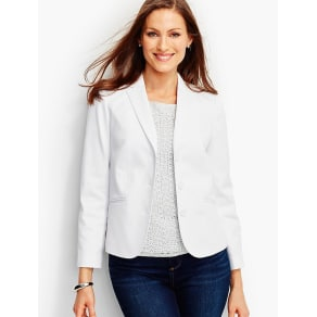 Talbots Women's Cotton Pique Blazer