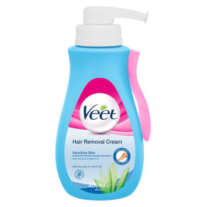 Veet Hair Removal Cream With Aloe Vera & Vitamin E for Sensitive Skin 400ml