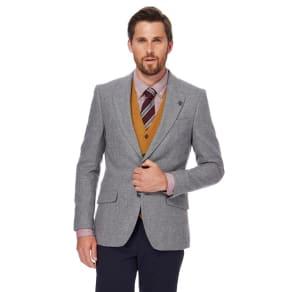 Hammond & Co. By Patrick Grant Light Grey Wool Blend Blazer