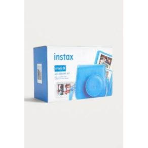Fujifilm Instax Mini 9 Cobalt Blue Accessory Kit, Blue