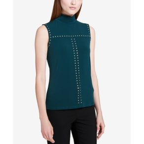 Calvin Klein Studded Turtleneck Top