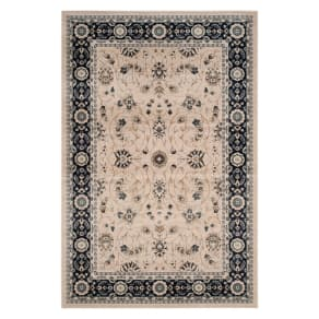 9'X12' Floral Loomed Area Rug Light Beige/Anthracite (Light Beige/Grey) - Safavieh