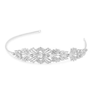 Alan Hannah Devoted Designer Silver Crystal Art Deco Statement Headband