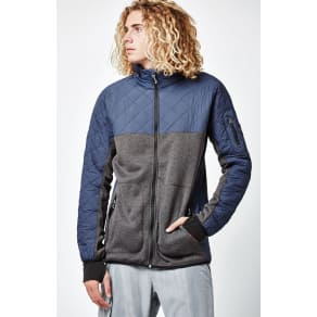 Burton Mens Pierce Fleece Zip Navy Snow Jacket
