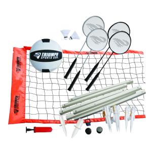 Triumph Sports Usa Advanced Volleyball / Badminton Set, Orange