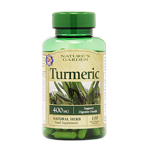 Nature's Garden Turmeric 400mg Containing Curcumin 100 Capsules - 100capsules