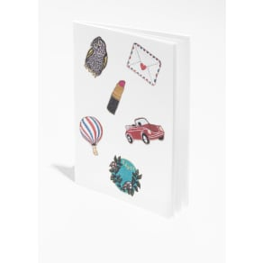 Patches A5 Notebook - White