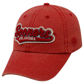 Top Of The World Oklahoma Sooners College Heritage Park Adjustable Back Hat, Red