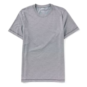 Murano Striped Solid Short Sleeve Crewneck T-Shirt