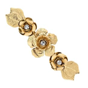 Butterfly by Matthew Williamson Designer Gold Crystal Flower Hair Clip