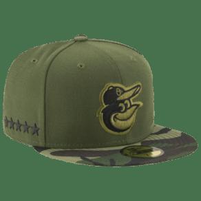 Baltimore Orioles New Era Mlb 59fifty Stars & Stripes Memorial Day Cap - Mens - Green Camo