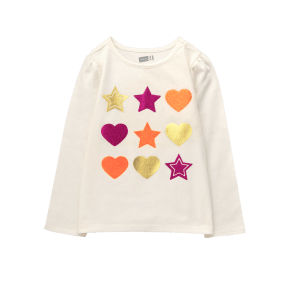 Girl's Stars Hearts Tee by Crazy 8 - Ivory by Crazy 8