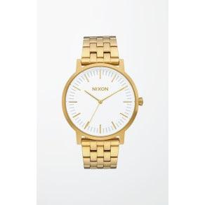 Nixon Mens Gold and White Porter Watch - Gold/White