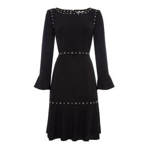 Hugo Boss Henryke 8 Eyelet Dress, Black