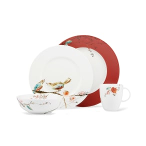 Lenox Simply Fine Chirp Scarlet 4 Piece Place Setting