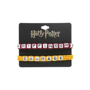 Harry Potter Gryffindor Block Letter Bracelet Set