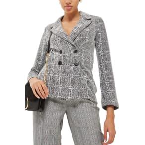 Women's Topshop Fitted Boyfriend Blazer, Size 8 US (Fits Like 6-8) - Grey