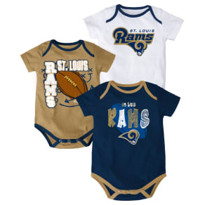 Outerstuff Babies' St. Louis Rams 3-Piece Bodysuit Set