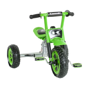 Kawasaki Boy's 10 Tricycle - Green/Silver, Silver/Green