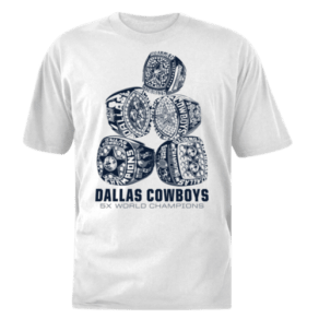 Dallas Cowboys Dcm Nfl Ring Stack T-Shirt - Mens - White