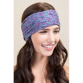 Boho Bandeau by Natural Life in Aqua Purple Burst - Gray