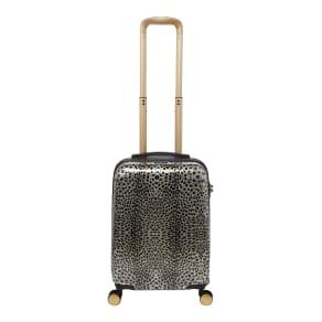 Biba Amure Animal Print 8 Wheel Hard Cabin Suitcase, Leopard Print