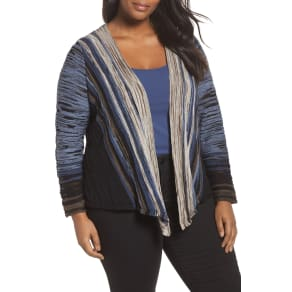 Plus Size Women's Nic+zoe Park Slope Cardigan, Size 1x - Blue