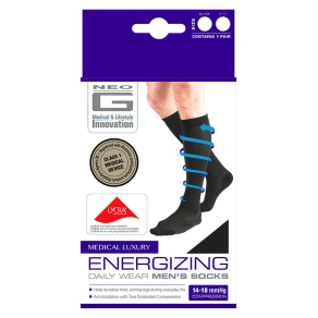 Neo G Energizing Daily Wear Men's Socks Black - Medium