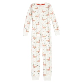 Girl's Mini Boden Fitted One-Piece Pajamas, Size 6y - Ivory