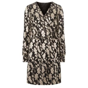 129319d676 Vero Moda Black Foiled Wrap Dress. Dorothy Perkins
