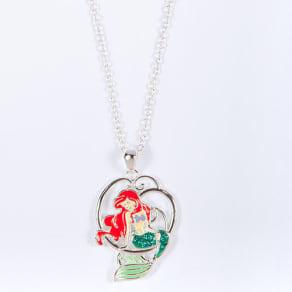 Disney Little Mermaid Ariel Green Crystal Necklace