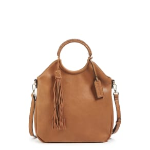 Sole Society Faux Leather Bracelet Bag - Brown