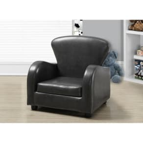 Monarch Specialties Faux Leather Juvenile Kid's Club Chair