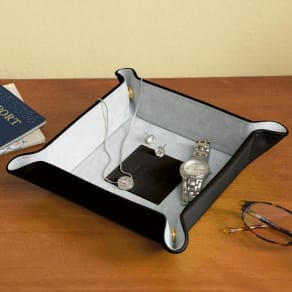 Personalized Royce Leather Travel Valet Tray