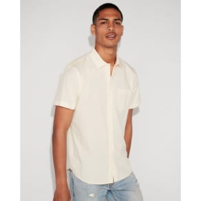 Express Mens Classic Solid Short Sleeve Shirt