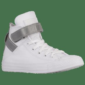 Womens Converse All Star Brea Hi - White/Silver/White