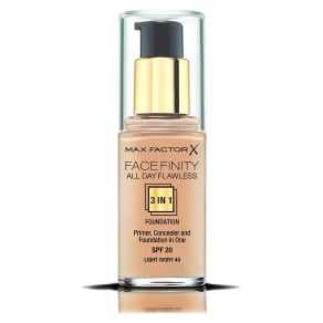 Max Factor Face Finity All Day Flawless 3 in 1 Foundation Warm Almond Warm Almond