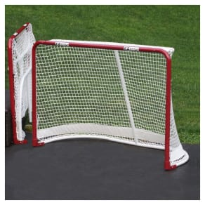 Ez Goal Folding Metal Hockey Goal - 6'x4', Red